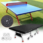Dust-proof Table Tennis Ping Pong Table Cover Outdoor Waterproof Protector Black