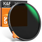 K&F Concept 49-82mm Fader ND Filter Nano X Variable Neutral Density ND2 to ND400 <br/> New Product 32 Layer Green Film Multi Coated Ultra Slim