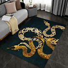 HOT-Luxury Ball Python Art Area Rugs For Living Room, Rugs For Living Room Floor