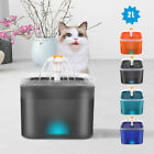 2L Pet Water Fountain Cat Dog Electric Automatic Drinking Dispenser Filters LED