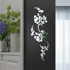 Removable 3d Mirror Flower Decal Art Mural Acrylic Wall Sticker Home Diy Decor