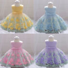 Toddler Baby Gowns Girls Floral Dress Clothes Birthday Princess Bridesmaid Dress
