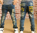 Kids Jeans Boy Casual Denim Pants Spring Fall Stretch Jeans Child Trousers