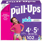 Huggies Pull-Ups Plus Training Pant For Girls Leak protection Underwear-like fit