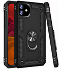 Apple iPhone Xr Case Heavy Duty Ring Kickstand Premium Protection Cover Black US