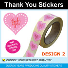 35mm Gold and Green Heart Thank You Stickers / Labels - Only for 120