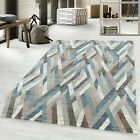 ROYAL TRENDY MODERN ABSTRACT DESIGN QUALITY MULTICOLOUR, BROWN, NAVY BLUE RUG