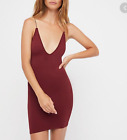 NEW Free People Intimately Seamless High Platform Slip in Cranberry M/L 40
