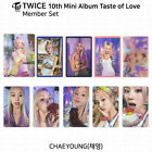 TWICE 10th Mini Album Taste of Love Official Photocard Chaeyoung KPOP K-POP