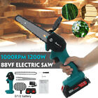 1200W Cordless Electric Chain Saw Logging Saw Wood Cutter With Battery+ Charger