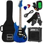 Beginner Electric Guitar Kit W/ Case, 10W Amp, Tremolo Bar - 39in for sale