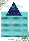 PDF To Do List Daily + Weekly + Chores Printable Digital All included