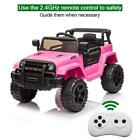12V Kids Ride On Truck Car 2.4G Remote Control, 3 Speed, LED Light, Music Player