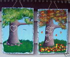 """Sweetheart Tree"" Hand Painted Personalized Slate, Original by Artist"