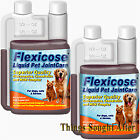 FLEXICOSE LIQUID PET JOINT CARE for Dogs Cats Horses Glucosamine Chondroitin PK