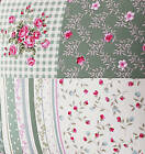 "COTTON OXFORD CURTAIN RUG CUSHION FABRIC STRIPE CHECK DOT FLORAL PATCHWORKS 44""W"