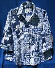 Coldwater Creek Patchwork Collage Stretch Blouse