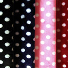 "SOFT MINKY MINKEE CHENILLE FABRIC CUTE POLKA DOTS PRINT RED BLACK BLUE PINK 60""W"