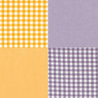 """YARN DYED CHAMBRAY COTTON FABRIC CLOTHES CURTAIN CHECK MELANGE VIOLET ORANGE 44"""""""