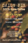 Pure 100% Kona Coffee - 1 LB GROUND Roasted Estate