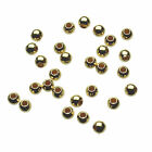 Gold Plated 925 Sterling Silver Seamless Round Beads