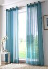 ring top eyelet voile panel curtain teal