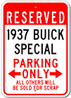 1937 37 BUICK SPECIAL Parking Sign