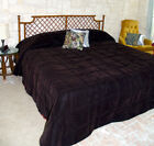 Conventional Size Solid VELVET Bedspread - all sizes image