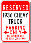 1936 36 CHEVY TRUCK Parking Sign