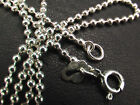 Solid 925 Sterling Silver 1.8mm Ball Chains. Lengths 40, 45, 50 cm