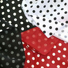 "LINEN LAMIE 100% DRESS DRAPES CURTAIN BOUTIQUE FABRIC 12MM POLKA DOTS 57""W BTY"