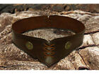 Brown Handmade Wide Leather Belt Medieval or Peasant