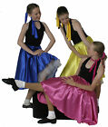 ROCK & ROLL/1950's Satin Jive Skirt with attached Petticoat all ages & sizes