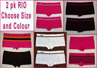 2 x RIO BOYLEG LADIES Undies UNDERWEAR Black sz 8 - 10 or 10 - 12  Choose Colour