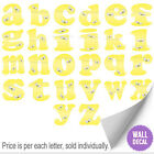 Name Wall Letters Alphabet Stickers Initial Decals Girls Decor Yellow Bumble Bee