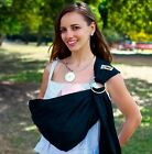 WALKABOUT Baby Ring Sling Carrier Pouch Wrap Newborn To Toddler 5 Position BLACK