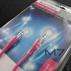 PINK AUXILIARY CABLE CORD for LG PHONES - JACK 3.5mm CAR AUDIO AUX MALE WIRE