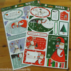 A4 - Papermania - Christmas Glitter Die Cut Toppers - No Scissors - 14Pcs