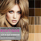 """24"""" Clip In Remy Human Hair Extensions 8 piece Full Head Set"""