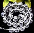 """clear quartz round 128 faceted Beads 15"""" 6mm 8mm 10mm 12mm 14mm 15mm 17mm"""