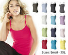 Bella NEW Ladies Size S-2XL 1x1 Rib Spaghetti Strap Tank Top T-shirt Womens 1011