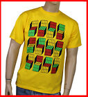 Big Bang Würfel Cubes T-Shirt, The Sheldon S-XXL Theory Fun-Shirt 3D gelb