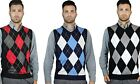 BLUE OCEAN MEN'S V-NECK CLASSIC ARGYLE SWEATER VEST (SV-255)