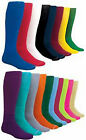 NEW! 2 Pair Solid Soccer Sport Socks in Your Color/Size!