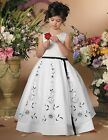 L115 flower girl wedding bridesmaid dress party prom bridal gown