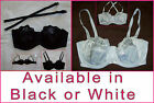 Sexy UNDERWIRE BRA Sz 12 14 16 18 C & D - Black or White REMOVABLE STRAP New