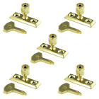 Casement Stay Pin Lock 5 Pack Brass Zinc Plated Window Locks For Pins & Key