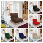 SINGLE BED 1 SEATER FUTON WOOD FRAME + LUXURY MATTRESS IN CHOICE OF COLOURS