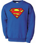 Superman classic logo S to XXL Raglan Sweat Black, Royal Blue, Blue Navy