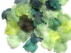 Acrylic Leaf Beads Lucite Vintage Maple Leaf Pendants Mixed Vine 20